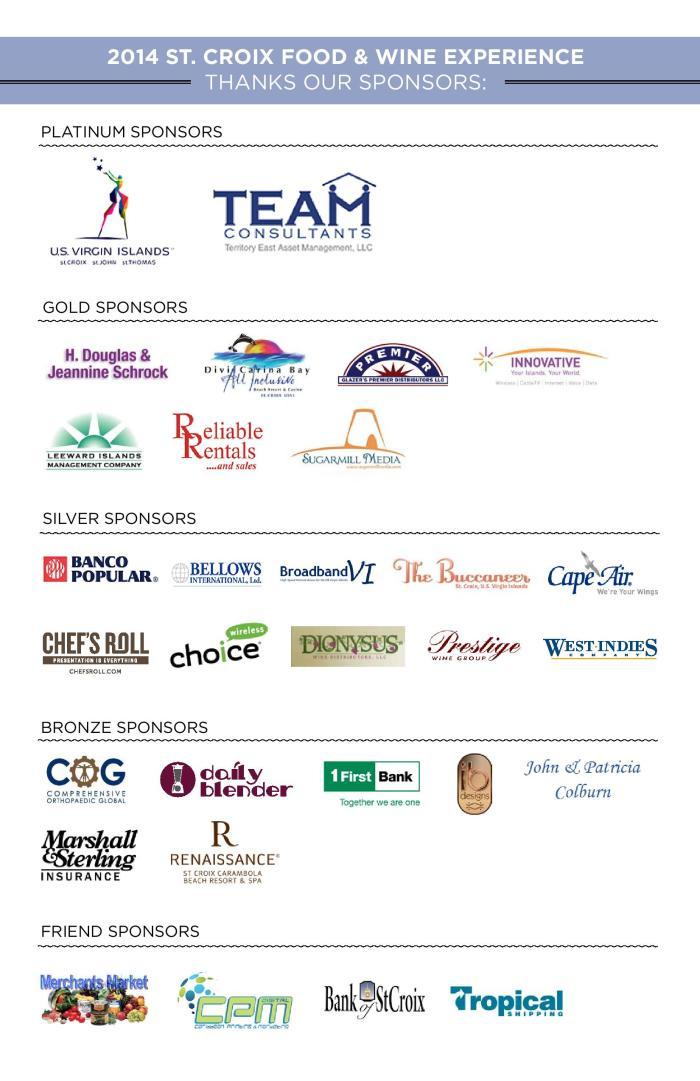 2014 Taste Sponsors
