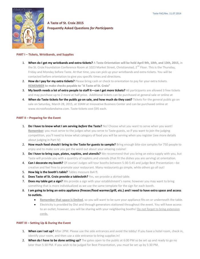 FAQ A Taste of St. Croix-1